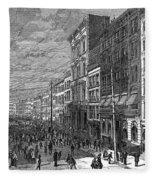 Bank Panic, 1873 Fleece Blanket