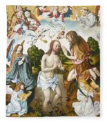 Baptism Of Christ Fleece Blanket