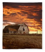 Barn On Highway 21 Fleece Blanket