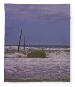 Barnacle Bill's Pier Remnants Fleece Blanket