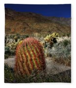 Barrel Cactus Fleece Blanket