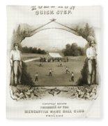 Baseball, 1861 Fleece Blanket