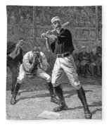 Baseball, 1888 Fleece Blanket