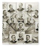 Baseball, 1894 Fleece Blanket