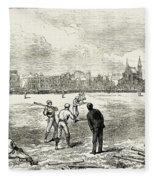 Baseball: England, 1874 Fleece Blanket