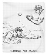 Baseball Players, 1889 Fleece Blanket