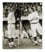 Baseball Players, 1920s Fleece Blanket