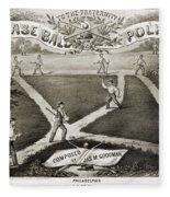 Baseball Polka, 1867 Fleece Blanket