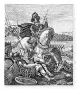 Battle Of Agincourt, 1415 Fleece Blanket