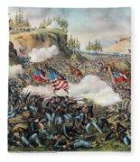 Battle Of Chickamauga 1863 Fleece Blanket