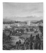 Battle Of Molino Del Rey Fleece Blanket