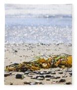 Beach Detail On Pacific Ocean Coast Fleece Blanket