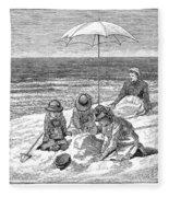 Beach Scene, 1879 Fleece Blanket