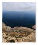Beautiful View On Mediterranean Sea From Cape Gkreko In Cyprus Fleece Blanket