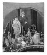 Bedroom Scene, 1920s Fleece Blanket
