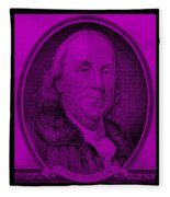 Ben Franklin In Purple Fleece Blanket