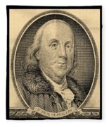 Ben Franklin In Sepia Fleece Blanket