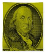 Ben Franklin In Yellow Fleece Blanket