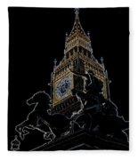 Big Ben And Boudica Statue Fleece Blanket