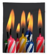 Birthday Candles Fleece Blanket