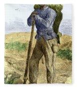 Black Civil War Soldier Fleece Blanket