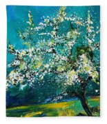 Blooming Appletree Fleece Blanket