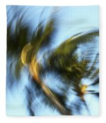 Blurred Palm Trees Fleece Blanket