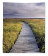 Boardwalk Along The Salt Marsh Fleece Blanket