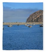 Boats And Blue Water Fleece Blanket