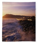 Bray Promenade, Co Wicklow, Ireland Fleece Blanket