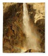 Bridal Veil Falls At Yosemite Fleece Blanket