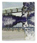 Bridge Across The River Fleece Blanket