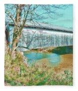Bridge In Montgomery Fleece Blanket