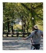 Bubble Boy Of Central Park Fleece Blanket