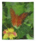 Butterfly Abstract Fleece Blanket