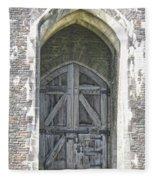 Caerphilly Castle Gate Fleece Blanket