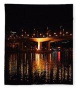 Cambie Street Bridge Fleece Blanket