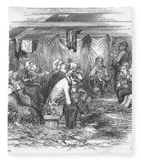 Camp Meeting, 1852 Fleece Blanket