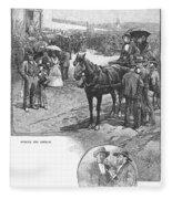 Canada: Church, 1883 Fleece Blanket