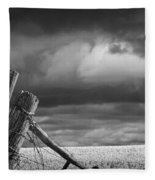 Canola Field In Southern Alberta  Fleece Blanket