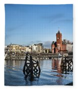 Cardiff Bay Panorama Fleece Blanket