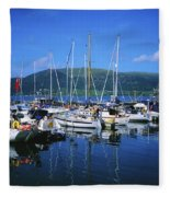 Carlingford Yacht Marina, Co Louth Fleece Blanket