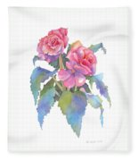 Carmel Begonias Fleece Blanket