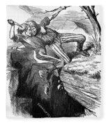 Cartoon: Civil War, 1862 Fleece Blanket