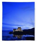 Castle In Scotland Fleece Blanket