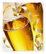Champagne Glasses Fleece Blanket