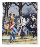 Charles I's Last Walk Fleece Blanket