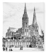 Chartres Cathedral Fleece Blanket