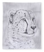 Cheeta Watching Fleece Blanket