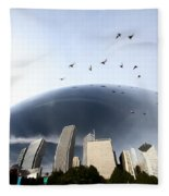 Chicago Cityscape The Bean Fleece Blanket